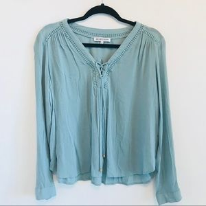 BEAUTIFUL Blue flowy blouse from Anthropologie